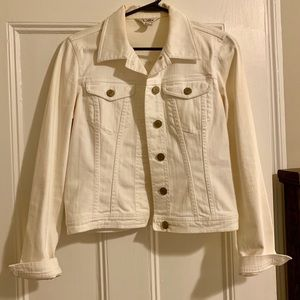Lilly Pulitzer - White Jean Jacket